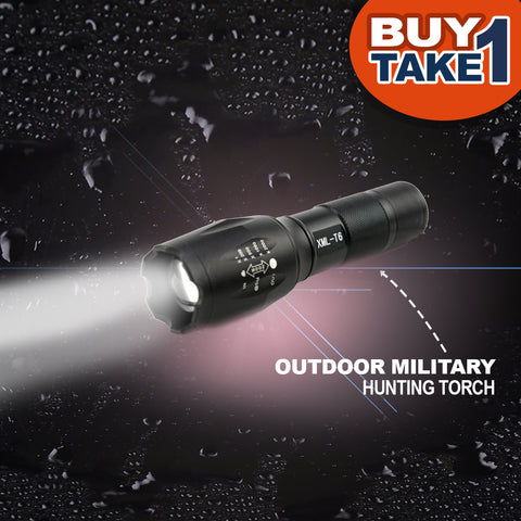 Outdoor Military Hunting Torch - BUY 1 TAKE 1 (with FREE 2 High Capacity 18650 Lithium Batteries)