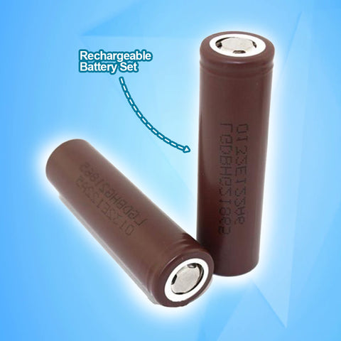 2 Piece High Capacity Rechargeable Battery Set