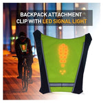 SafeRide™ LED Signal Light Vest and Waterproof Cycling Light & Horn with FREE Light Tire Valve Cap