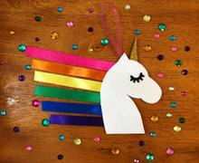 Load image into Gallery viewer, Rainbow Ribbon Unicorn