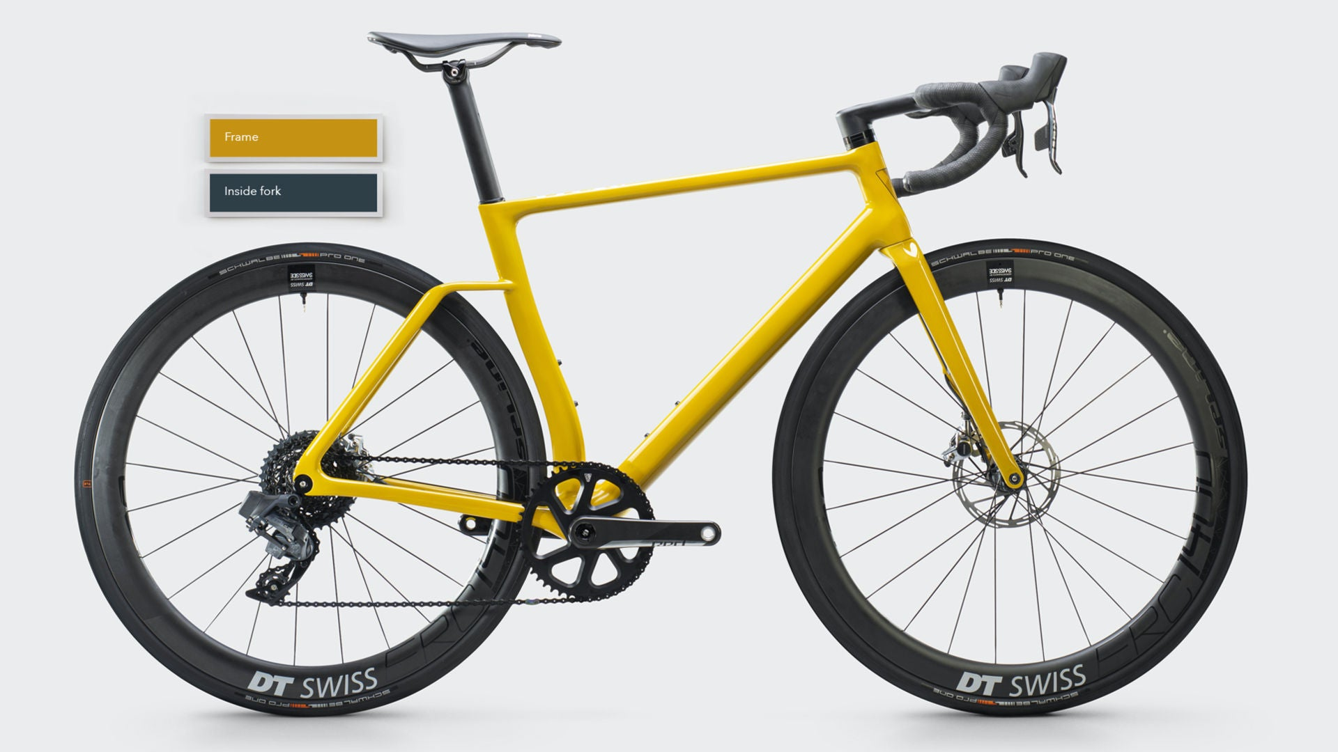 Vielo R+1 Alto Road Bike - Mustard Yellow