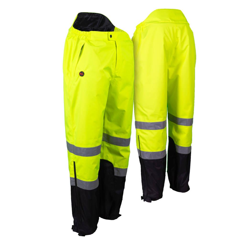 Mobile Warming Technology Pants Hi-Vis / sm Hi-Vis Heated Rain Pants Men's Heated Clothing