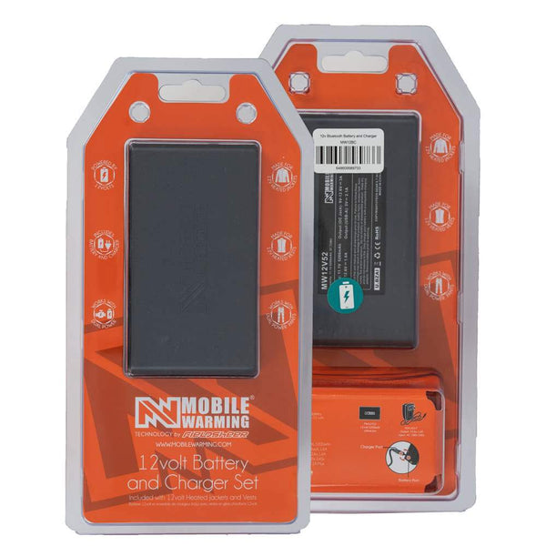 Mobile Warming Technology Battery 12v Powersheer™ XXL Battery & Charger Heated Clothing