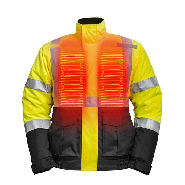 Mobile Warming Technology Men High-Vis Jacket Men's Heated Clothing