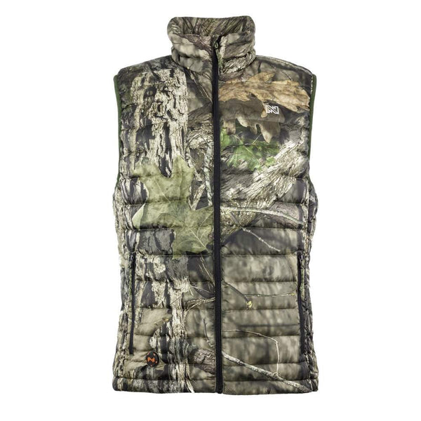 Mobile Warming Technology Men Summit Vest Down Men's Mossy Oak Heated Clothing