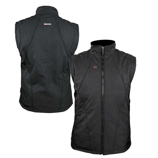 Mobile Warming Technology Vest SM / Black Dual Power Heated Vest Men's Heated Clothing