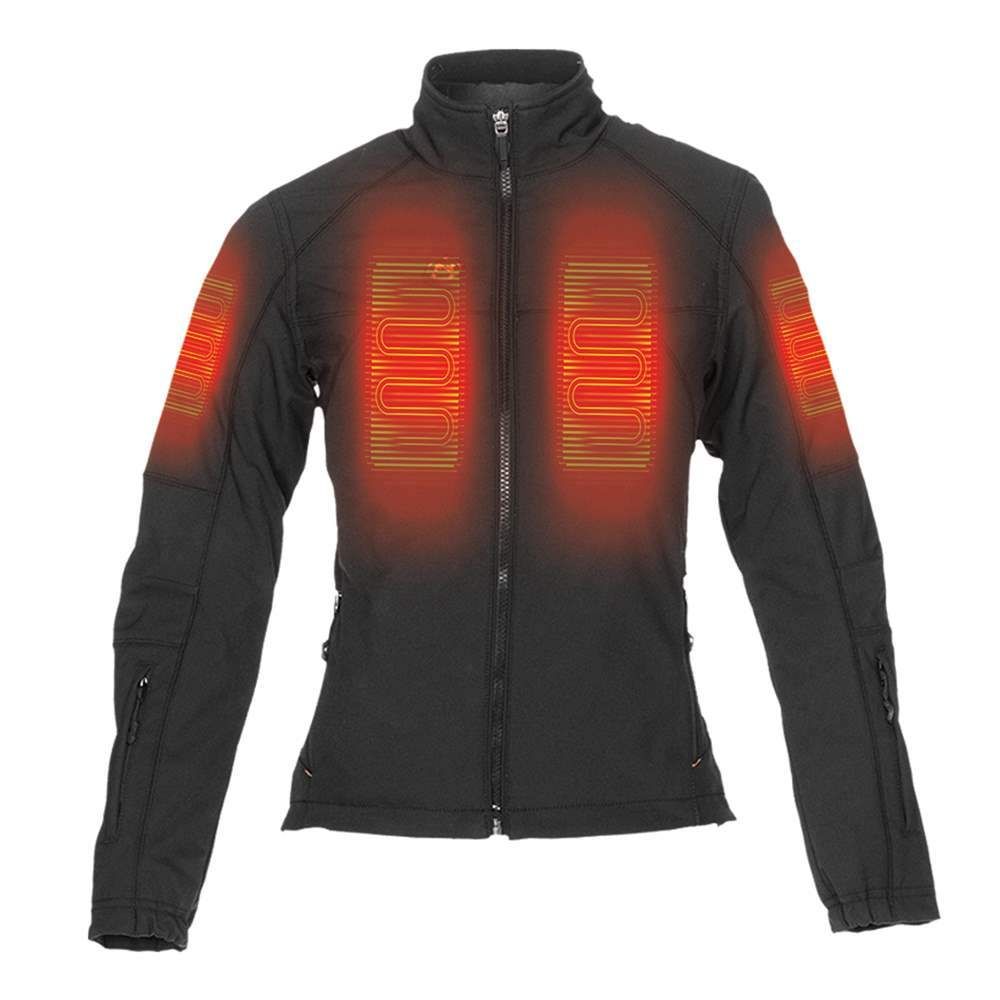 Mobile Warming Technology Jacket Dual Power Heated Jacket Women's Heated Clothing
