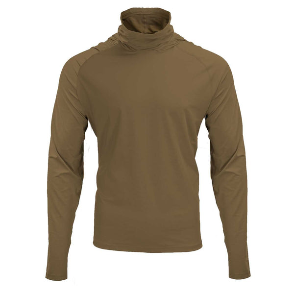 Mobile Cooling Technology Hoodie Coyote / SM Mobile Cooling® Hooded Long Sleeve Shirt Heated Clothing