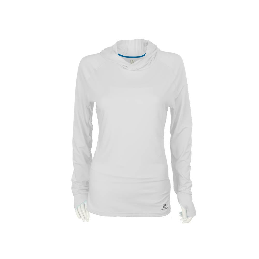 Mobile Cooling Technology Hoodie White / XS Mobile Cooling® Women's Hooded Long Sleeve Shirt Heated Clothing