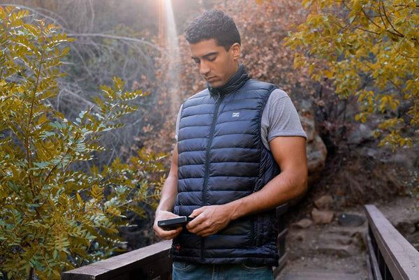 Mobile Warming Technology Men Summit Down Vest Men's Heated Clothing