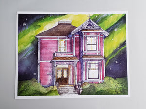 Halliwell Manor Watercolor Print