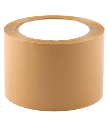 Kraft Paper Tape, self-adhesive, brown, 72mm x 50 metres - box of 24 STANDARD LENGTH rolls