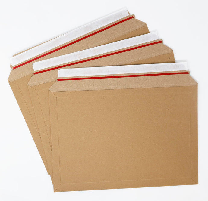 Board Envelope. Brown. 332 x 232mm, boxed in 100's. Self seal & Easy open