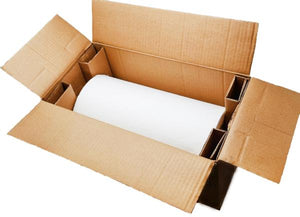 White HexcelWrap is delivered in a robust courier box for safe transport and easy storage