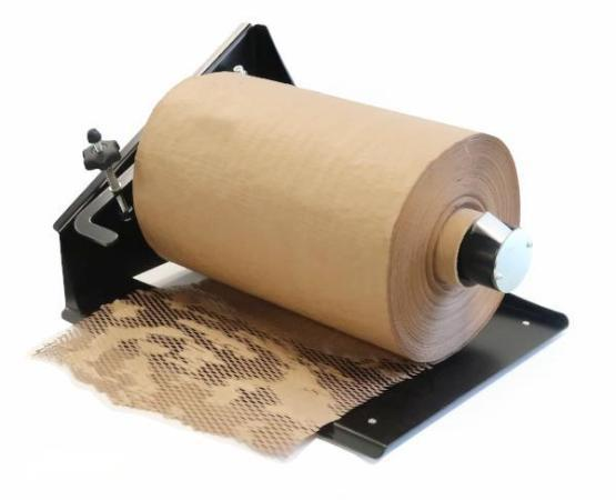 Brown kraft HexcelWrap paper protective packaging alternative to bubblewrap