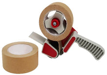 Load image into Gallery viewer, Kraft Paper Tape, self-adhesive, brown, 48mm x 50 metres - box of 36 STANDARD LENGTH rolls