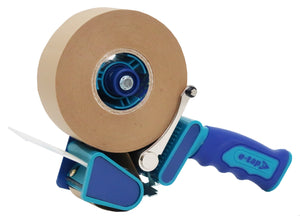 Kraft Paper Tape Starter Kit - 36 rolls of DOUBLE LENGTH brown kraft, self-adhesive, paper tape 48mm x 100 metres and ONE  tape dispenser 50mm core diameter.
