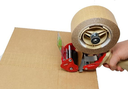 Kraft paper reinforced self-adhesive brown tape 48mm x 25 metres, box of 36 STANDARD LENGTH rolls
