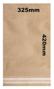 Kraft paper mailing bag with self seal strip