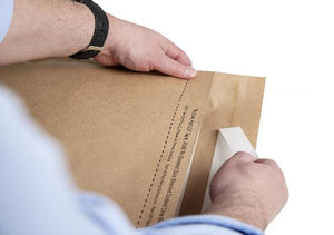 Self seal paper mailing sacks
