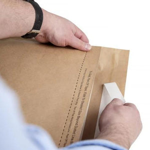 Easy to pack and seal paper mailing bags