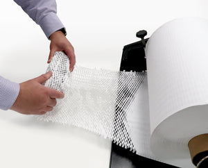 White HexcelWrap paper protective packaging for fragile products