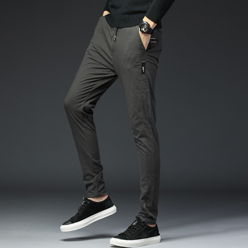 3d2ffd60 2018 Spring Summer Men Casual Pants Brand Clothing Trousers Male Sweatpants  Elastic Quality Slim Fit Chinos