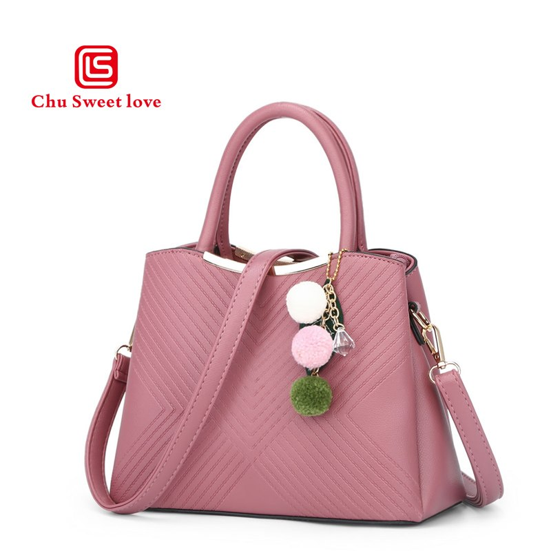 2018 new ladies bag PU Leather Europe and the United States style handbag lady Messenger shoulder bag - Shoplootlos