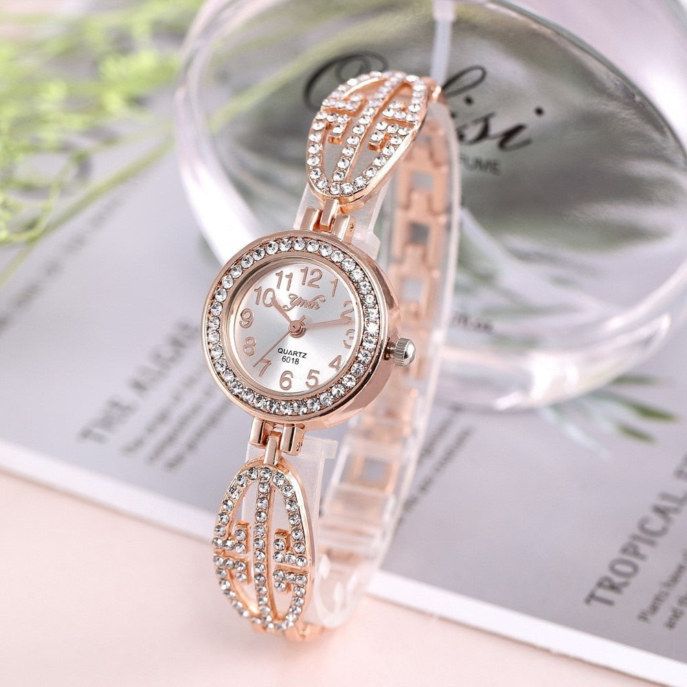 2019 Brand Luxury Bracelet Watch Women Watches Rose Gold Women's Watches Diamond Ladies Watch Clock Relogio Feminino Reloj Mujer - Shoplootlos