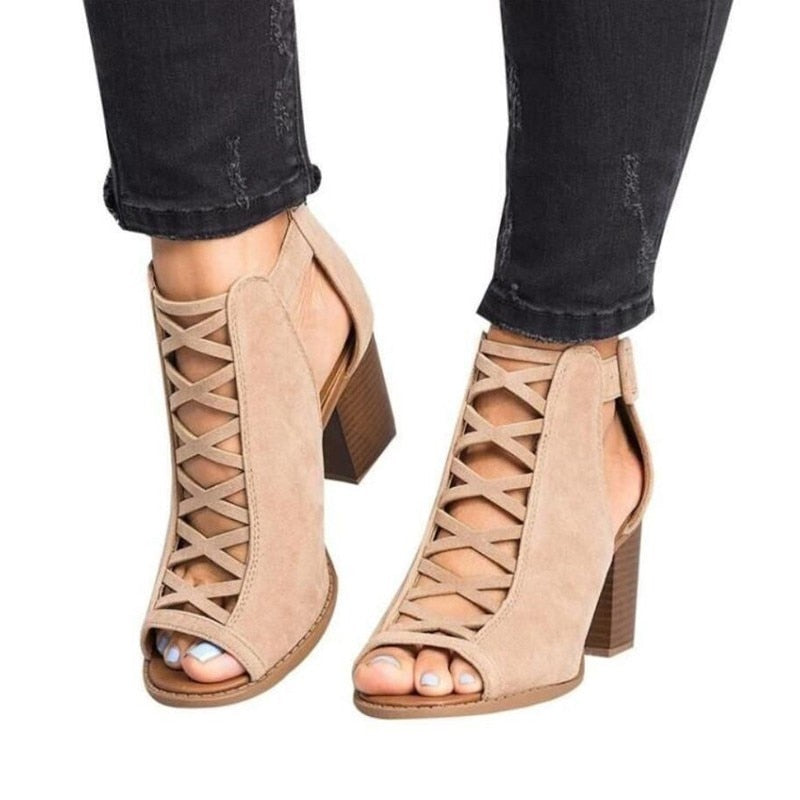 46fdf072d0f474 ... Shoes Plus Size 43  24.59  17.27. 2019 Fashion Women Sandals Summer New  Hot Female Fish Mouth Exposed Toe High-heeled Sandals