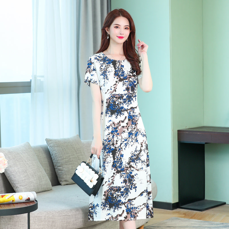 2019 Summer style women dresses casual print vintage long vestidos plus size dress women robe femme - Shoplootlos