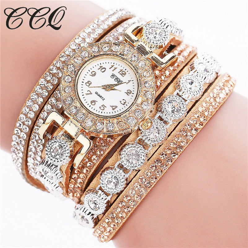 2019 Watch Women Bracelet Ladies Watch With Rhinestones Clock Womens Vintage Fashion Dress Wristwatch Relogio Feminino Gift A40 - Shoplootlos