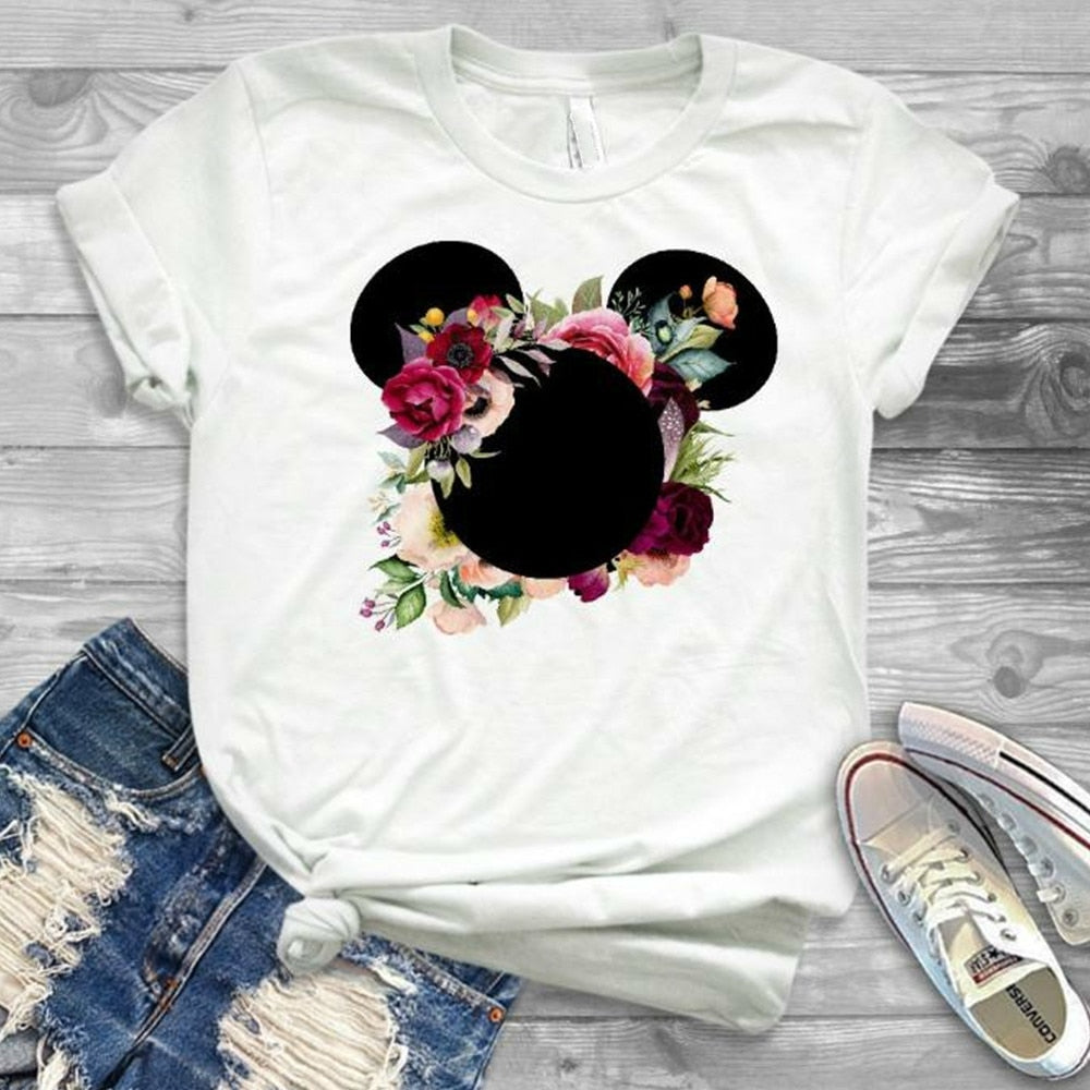 2019 fashion Women Printed Cartoon T-Shirt Tee Shirt Girl Tumblr Grphic T Shirt Cute Female Fashion Tees Print T-shirts