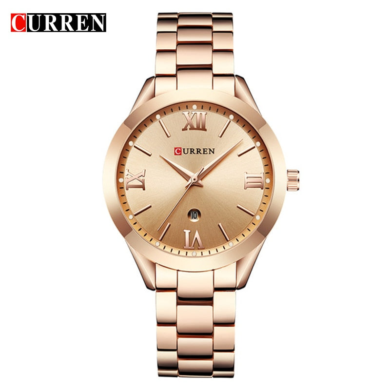 CURREN Gold Watch Women Watches Ladies Creative Steel Women's Bracelet Watches Female Clock Relogio Feminino Montre Femme 9007 - Shoplootlos