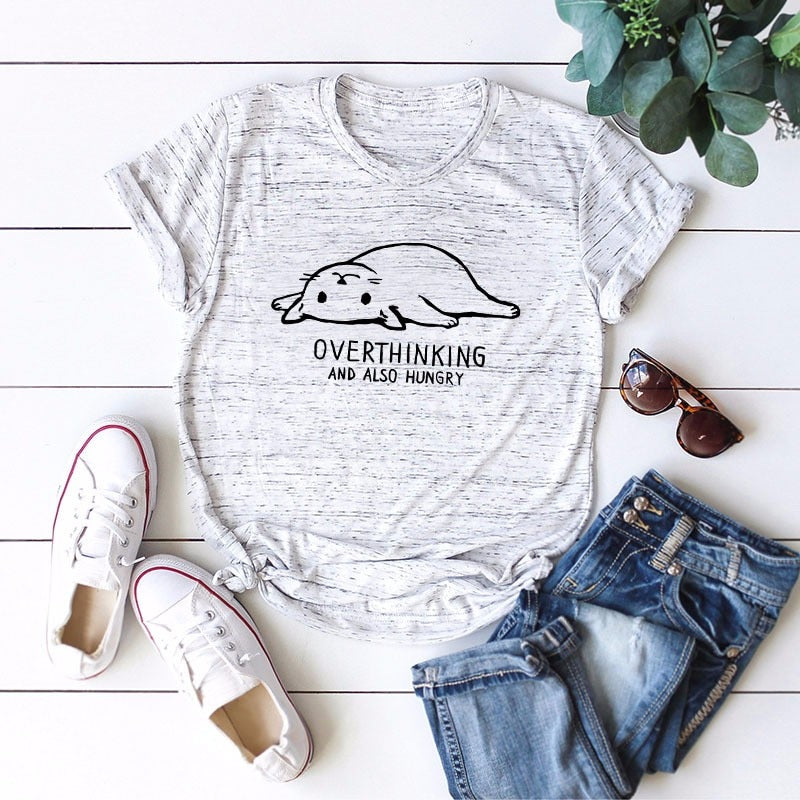 DeRuiLaDy 2019 New Lovely Cat Letter Print Women T Shirt 100% Cotton O Neck Short Sleeve Summer T-Shirt Tops Casual T Shirts Tee