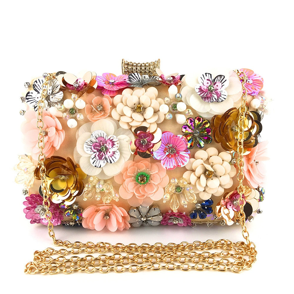 Evening Bag Lady Handmade Colored Flower  Clutch  Purses and Handbags  Flowers  Pearl  Fashion  Flap