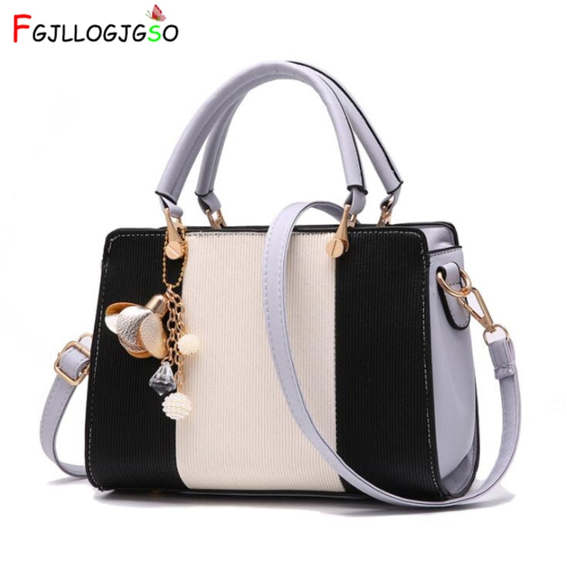 FGJLLOGJGSO women solid chains rivet totes panelled small handbag hotsale lady party purse messenger crossbody shoulder bags