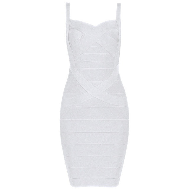 INDRESSME 2019 Bandage Dress Sexy Mini Spaghetti Strap Bodycon Strapless Club Party Summer Lady Dresses Femme Vestidos - Shoplootlos