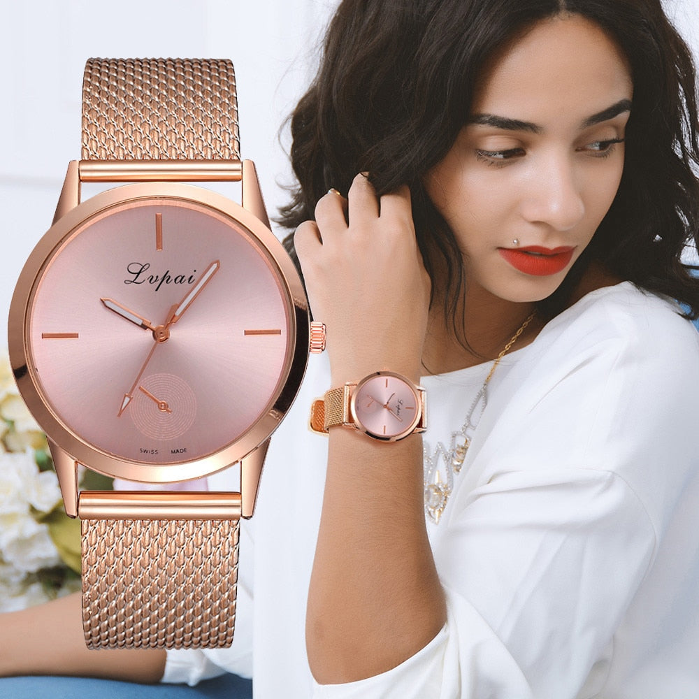 Lvpai Women's Casual  very charming for all occasions  Quartz Silicone strap Band Watch Analog Wrist Watch Women Clock reloj - Shoplootlos