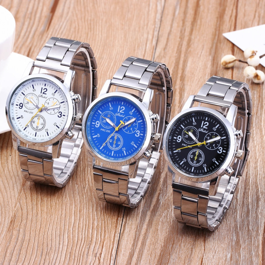 Men watches stainless steel Fashion Neutral Quartz Analog Wristwatch Steel Band Watch top brand luxury N.21