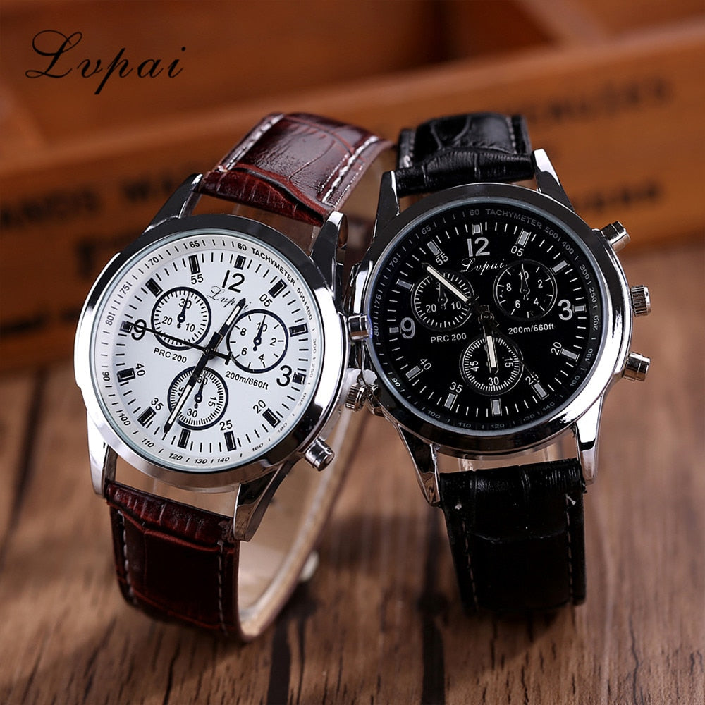 Mens Watches Top Brand Luxury Lvpai Casual Quartz Leather Band Watch Analog Wrist Watch relogio masculino dropshipping S0921
