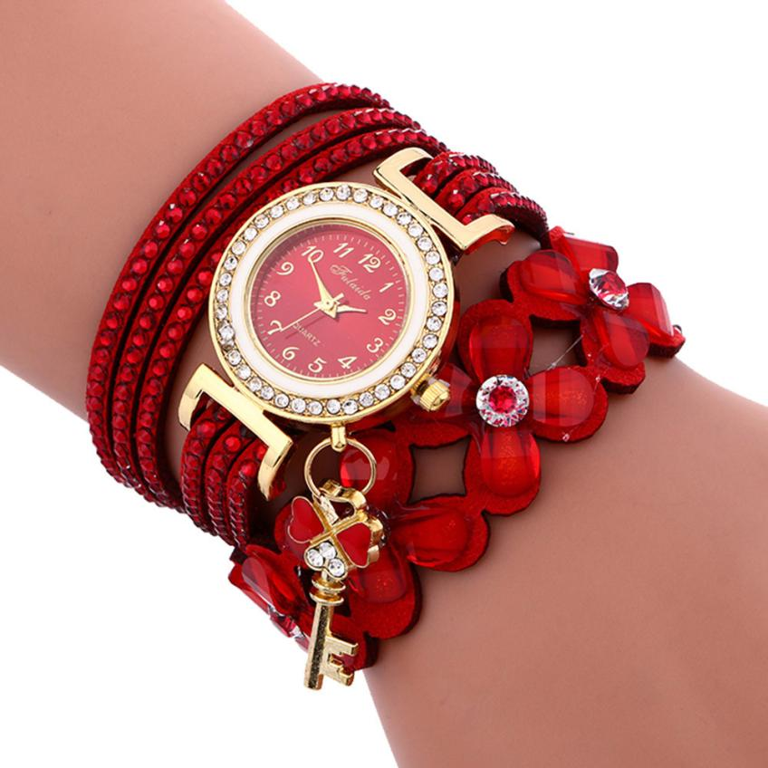 Moment# N03 Fashion relogio feminino Chimes Diamond Leather bracelets for women clock Ladies Watch Wrist Watch Drop Shipping New - Shoplootlos
