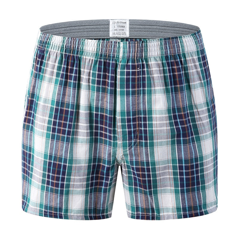 c8a99f31d732 New Mens Underwear Boxers Shorts Casual Cotton Sleep Underpants High  Quality Brands Plaid Loose Comfortable Homewear