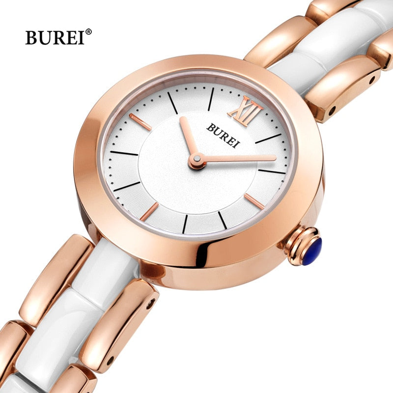 Relogio Feminino BUREI Women Watches Waterproof Fashion Gold Ladies Ceramic Quartz Wrist Watch Clock Woman Saat 2018 Reloj Mujer