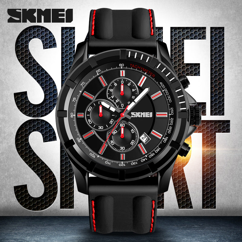 SKMEI Mens Watches Top Brand Luxury Sport Quartz Watch Silicone Strap Clock Men Military Waterproof Wristwatch Relogio Masculino