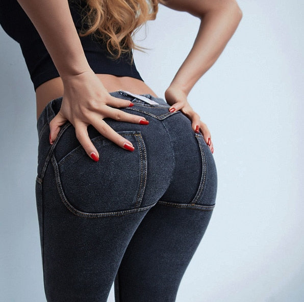 Sexy Jeans High Waist Stretchy Plus Size Hip Push Up Butt Lift Pants  Colombian Pants Vestido  Denim Jeans ouc262a