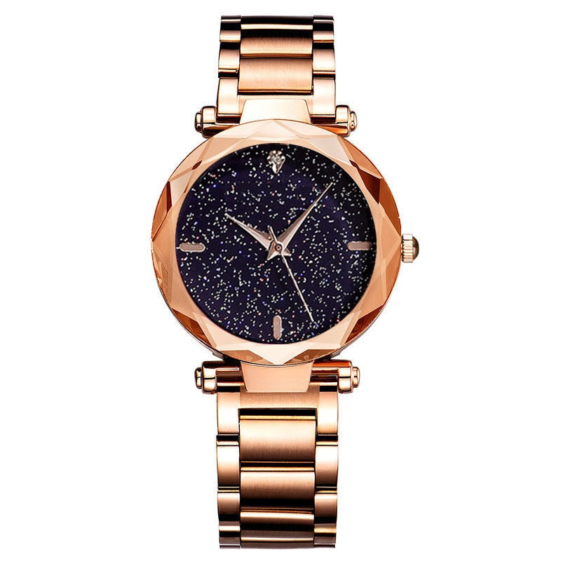 Simple Black Dress Watch Women High Quality Stainless Steel Quartz Watch Hot Rose Gold Ladies Bracelet Wristwatch for Ladies
