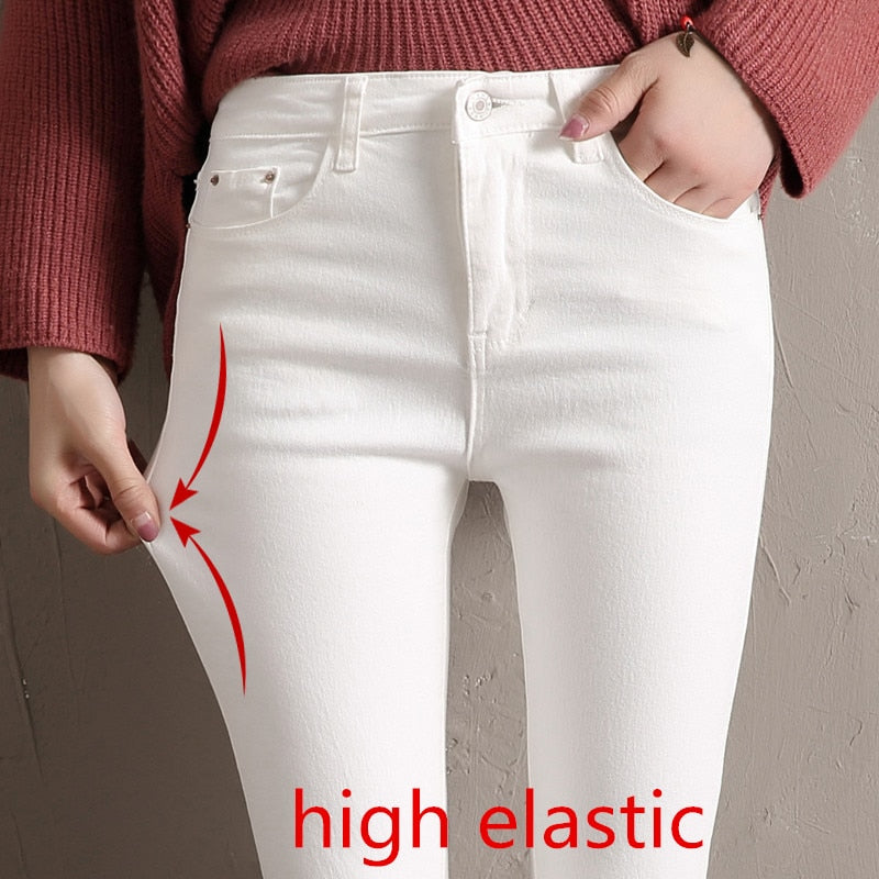 Women Jeans Skinny Denim Pants 2019 Spring Summer Female Vintage Slim Casual Elastic Stretch Jeans Demin Pencil Pant Trousers