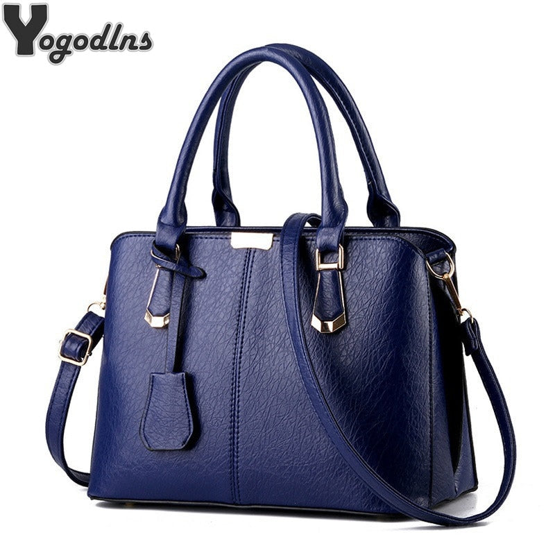 Women luxury handbags new stylish female shoulder bags sac a main bolsos 2019 new ladies pu leather messenger bags casual totes