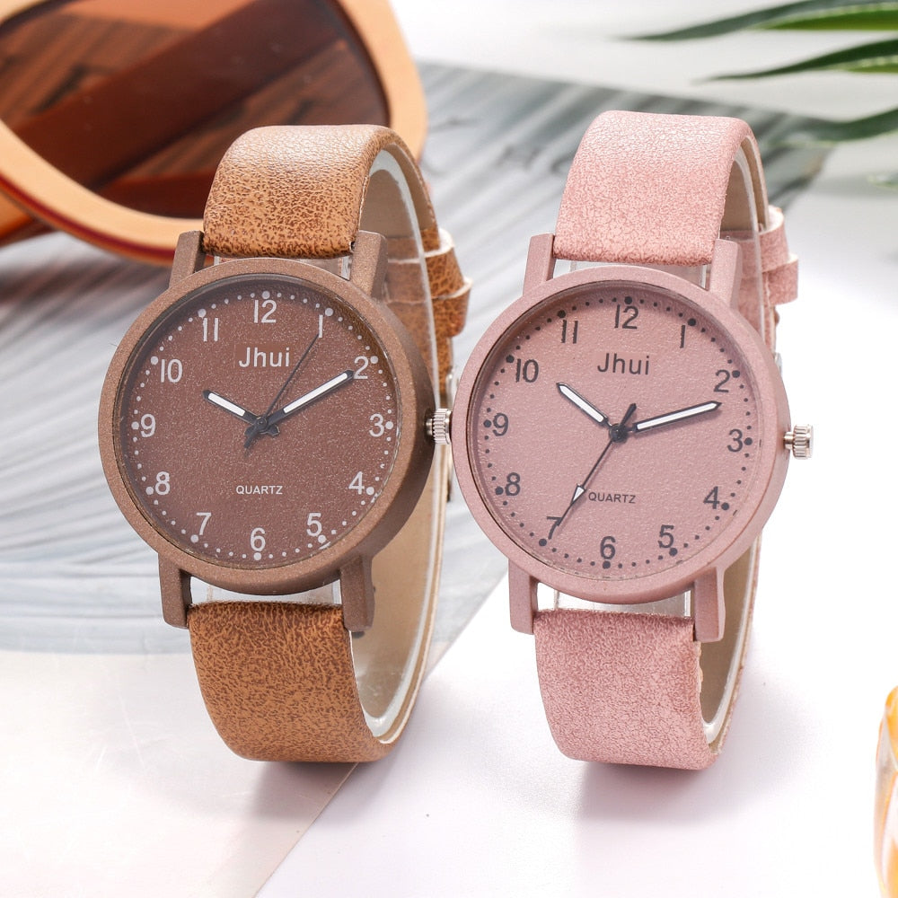 Women's Casual Quartz Leather Band New Strap Watch Analog Wrist Rose Gold Women Watch Steel Luxury Ladies Watch Creative NewA40